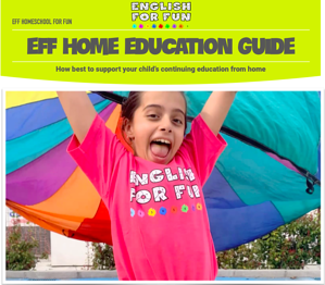 Olivia, our English for Fun super FAN, gives you a link to download our English for Fun, Homeschool for Fun Guide