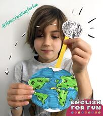This is an example of how John uses his creativity to share ideas about how to bring together the world with English.